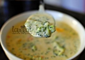 Суп с брокколи и чеддером