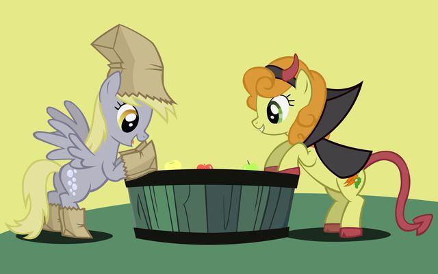 Derpy Hooves And Golden Harvest MLP My Little Pony