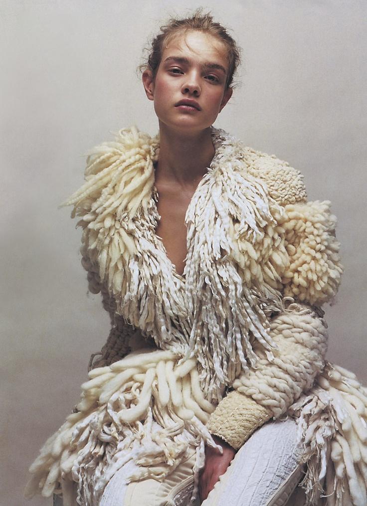 crazy | cool | boho | knit | lambs wool | tassels | cream | white | model | fashion