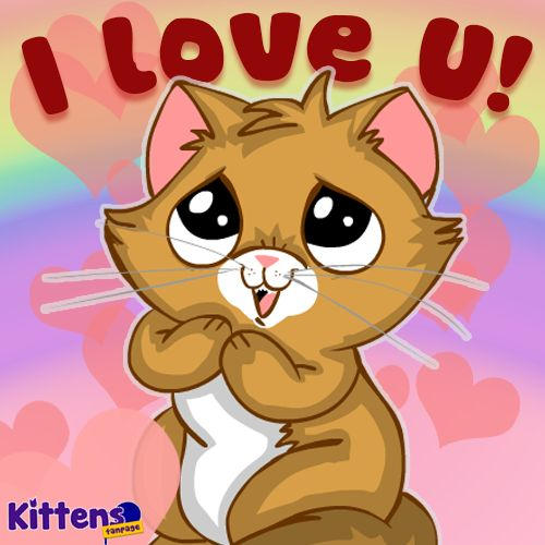 "Say ""I love you"" to someone with a #kitten #kittenspurr"