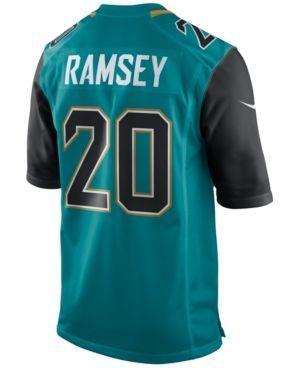 Nike Men's Jalen Ramsey Jacksonville Jaguars Game Jersey  - Teal/Black XXL