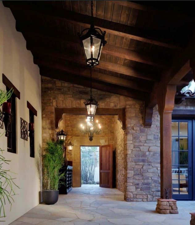 Covered Walkway Designs For Homes: LOVE This Rustic Porch.