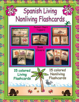 Introduce your students to Living and Nonliving vocabulary with these Beach Theme flashcards. Included: 15 Living cards 15 Nonliving cards 2 Pocket chart toppers 2 book covers to make vocabulary books As per our copyright law, please only use in ONE classroom.