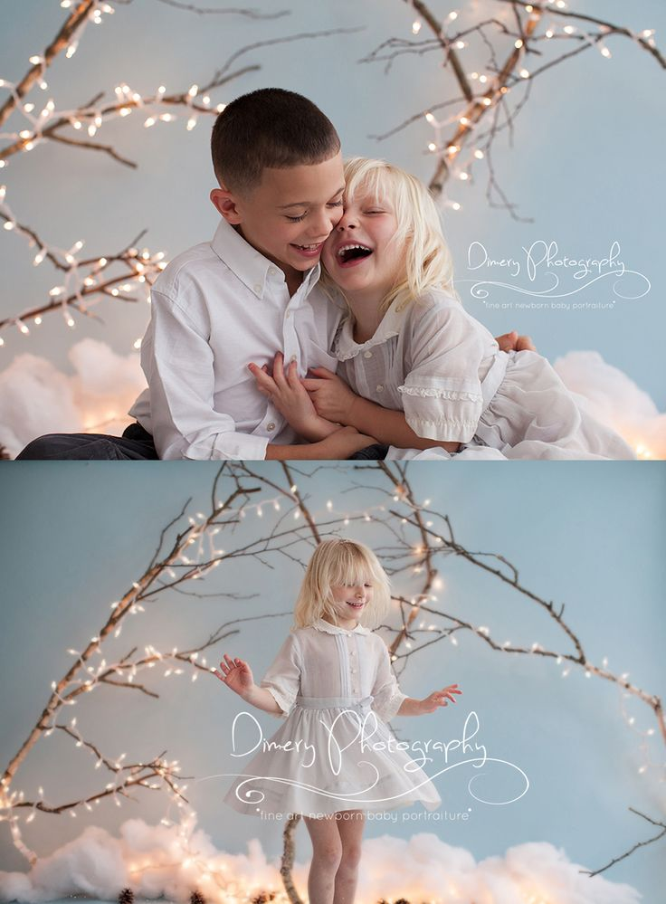 cousins, family portraits, indoor portraits with christmas lights © Dimery Photography 2013