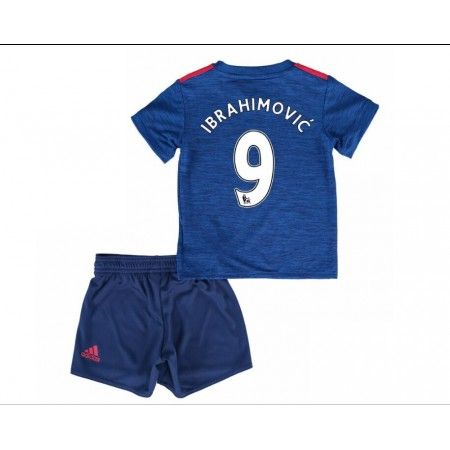 Manchester United Fotbollskläder Barn 16-17 Zlatan #Ibrahimovic 9 Bortatröja Kortärmad,248,15KR,shirtshopservice@gmail.com