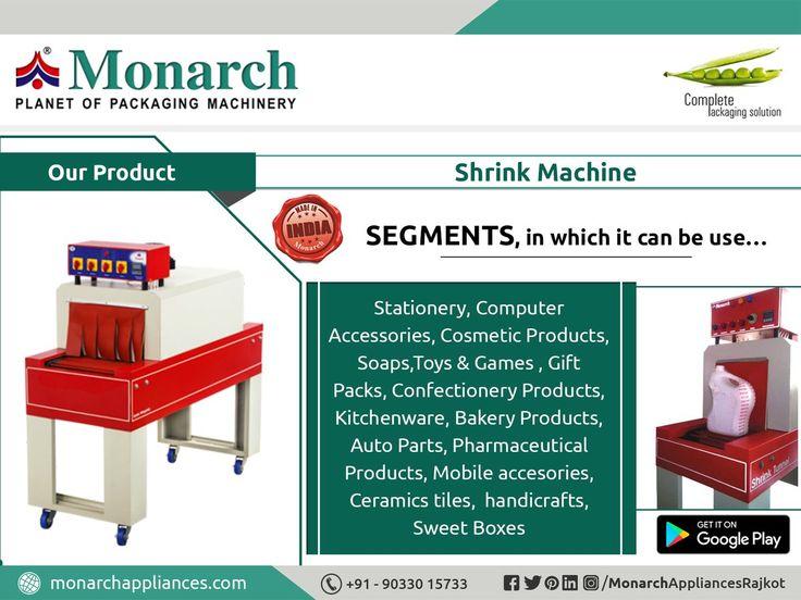 #ShrinkMachine #Monarch #packaging #machinery #Ahmadabad #Surat #Rajkot #Metoda #MonarchAppliances