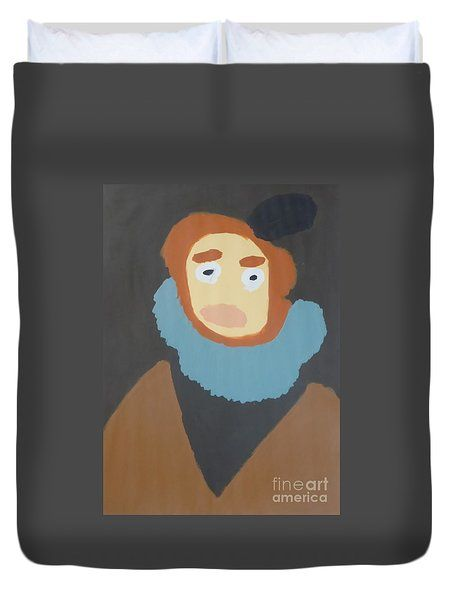 Duvet Cover featuring the painting Portrait Of Maria Anna 2015 - After Diego Velazquez by Patrick Francis
