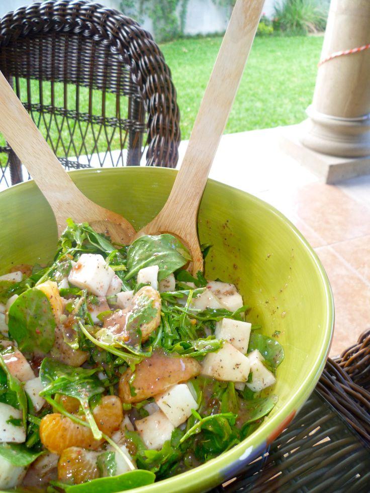 Mandarin and jicama salad | Comida I Love to Cook | Pinterest