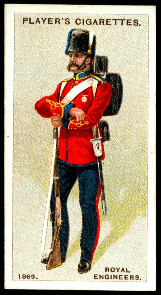 "#79 - Royal Engineers-Sapper, 1869 - Player's Cigarettes, ""Regimental Uniforms, Second Series"" (issued in 1914) 