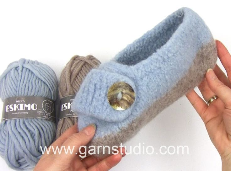 DROPS Knitting Tutorial: How to work the felted slipper in DROPS 161-37
