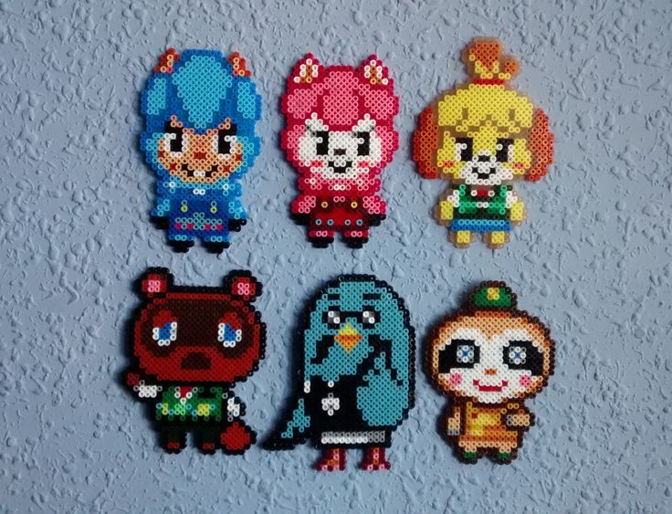 Animal Crossing New Leaf as hama beads