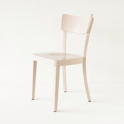 Chaise Filby en hêtre lin, dans l'esprit de la chaise Baumann des années 50.