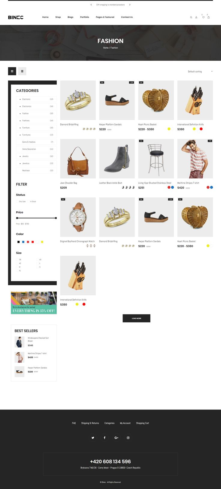 Binec 1.0.0 supports the latest #WordPress (4.8.x) and WooCommerce (3.1.x) Binec is a #WooCommerce #theme, built exclusively for online shopping and offers great variety of options to customize the look and feel of the theme via theme options panel. #design #website
