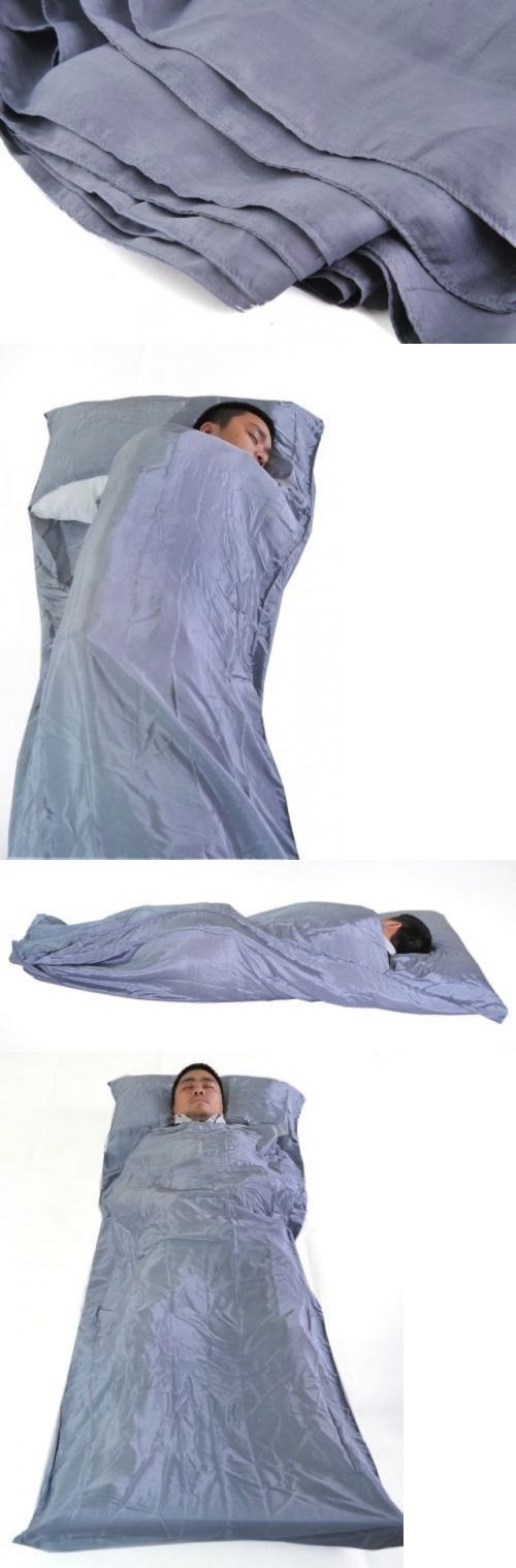 Blankets and Liners 111261: Silver 100% Pure Mulberry Silk Single Sleeping Bag Liner Travel Sheet Sleepsack -> BUY IT NOW ONLY: $52.99 on eBay!
