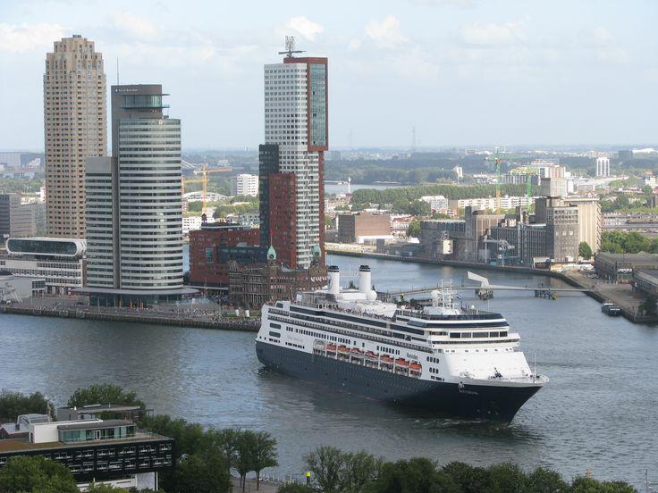 Ms Rotterdam at the port of Rotterdam - Photo by Petka.