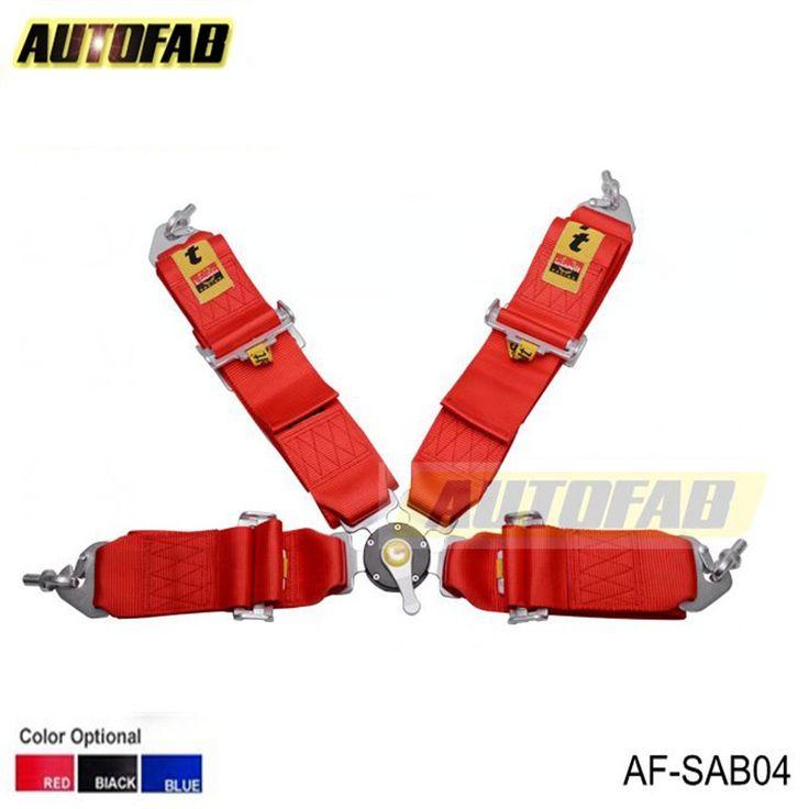 AUTOFAB - 2015 New  Racing Satefy Seat Belt FIA 2020 Homologation /width:3 inches/4Point Color : Black,Red, Blue AF-SAB04