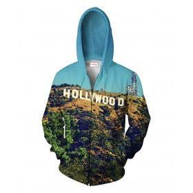 HOLLYWOOD Bluza Full Print 3D Z Kapturem