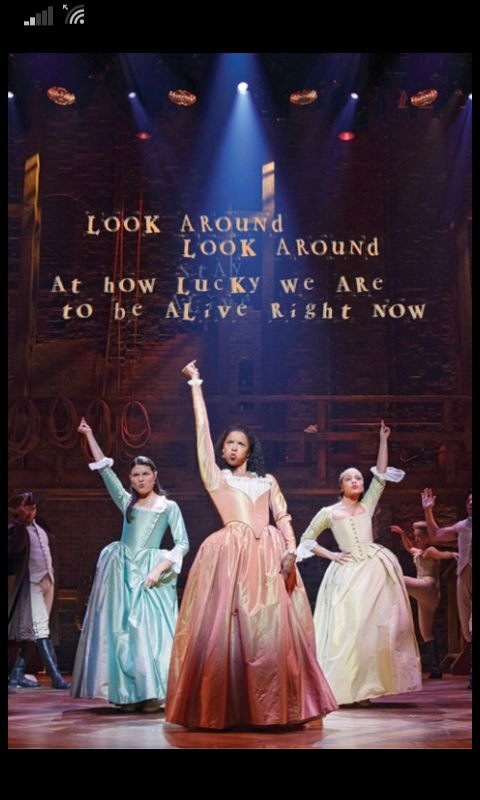 The Schuyler Sisters: We're looking for a mind at work! #hamilton