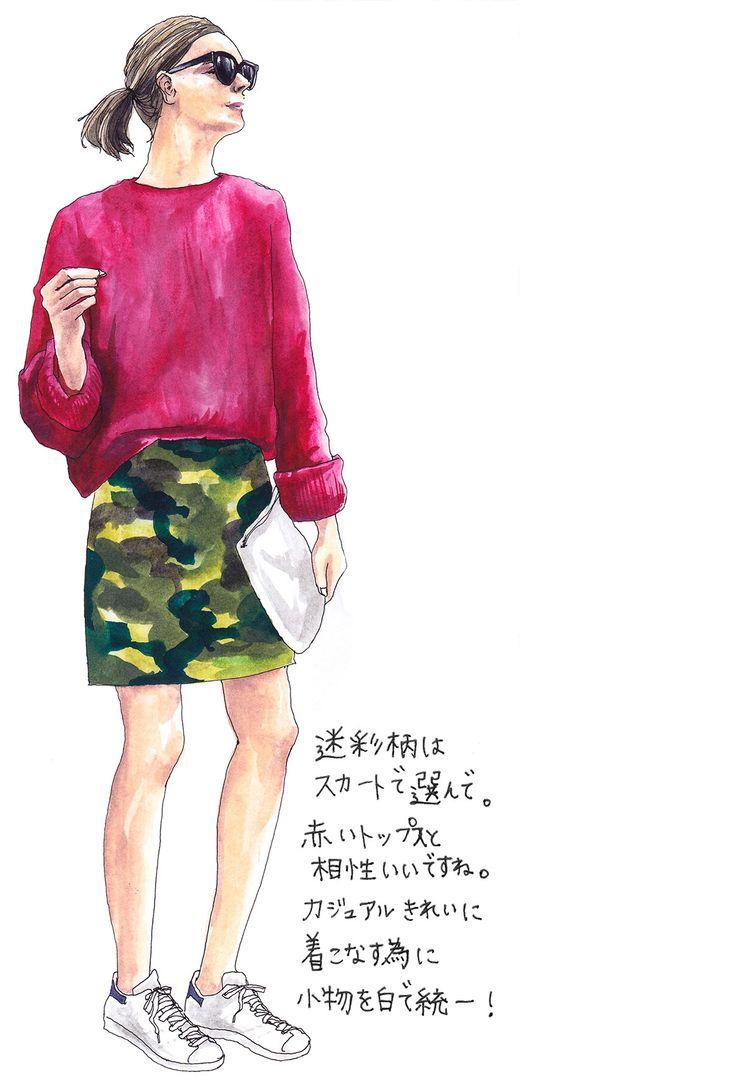 oookickooo きくちあつこ イラスト ミリタリー スタイルハウス STYLE HAUS ほぼ日手帳