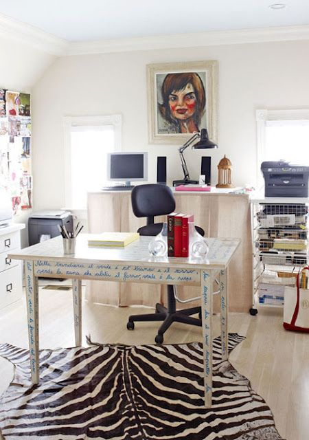 Town House With Great Personal Style   Traditional Home® Painted Desk ? For  Sewing Table