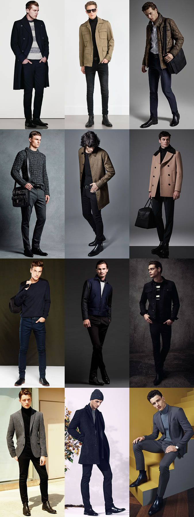 5 Classic Men's Autumn/Winter Boot Styles: 2. Chelsea Boots Outfits Lookbook Inspiration