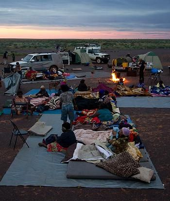 Aboriginal Elders lead you through their Ancestral Lands to visit Sacred Sites and perform Ceremonies.