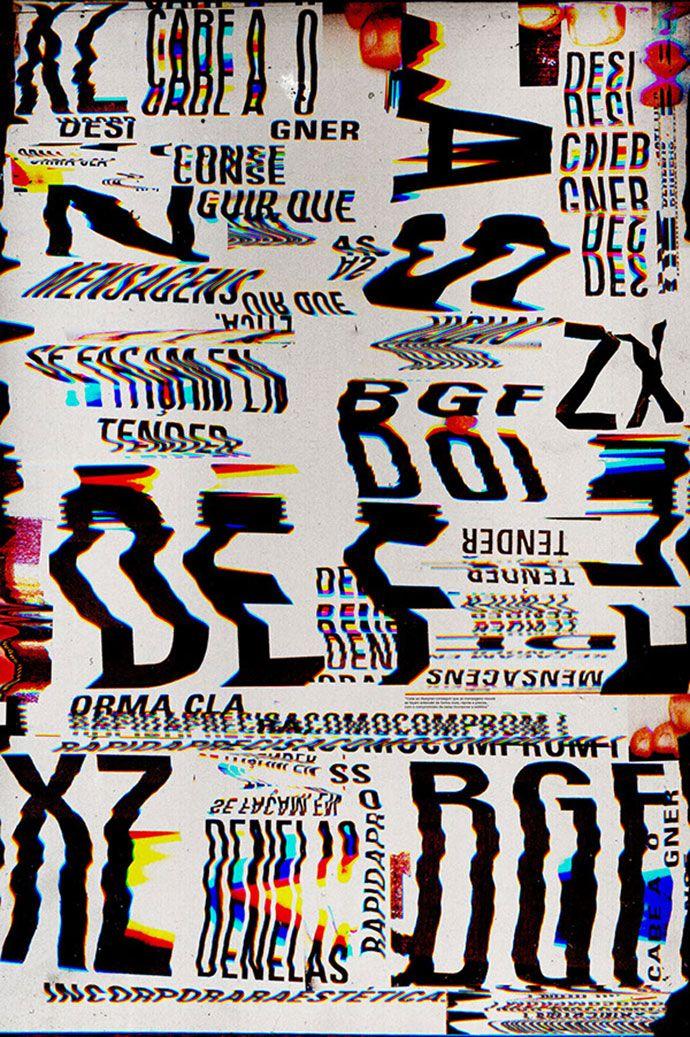 25 Amazing Examples Of Glitch Typography | Web & Graphic Design | Bashooka