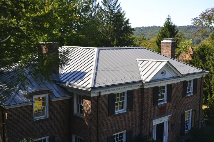 35 best images about metal roofs on pinterest porch roof for Metal roof pictures brick house