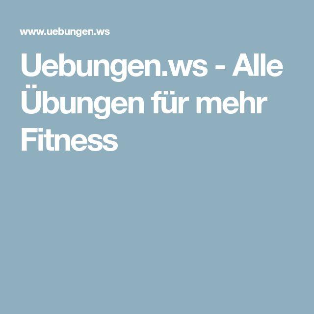 Uebungen.ws - Alle Übungen für mehr Fitness