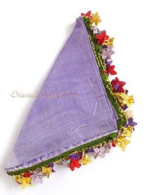 画像5: アイドゥン|アンティークオヤスカーフ|シルク糸|カラフル