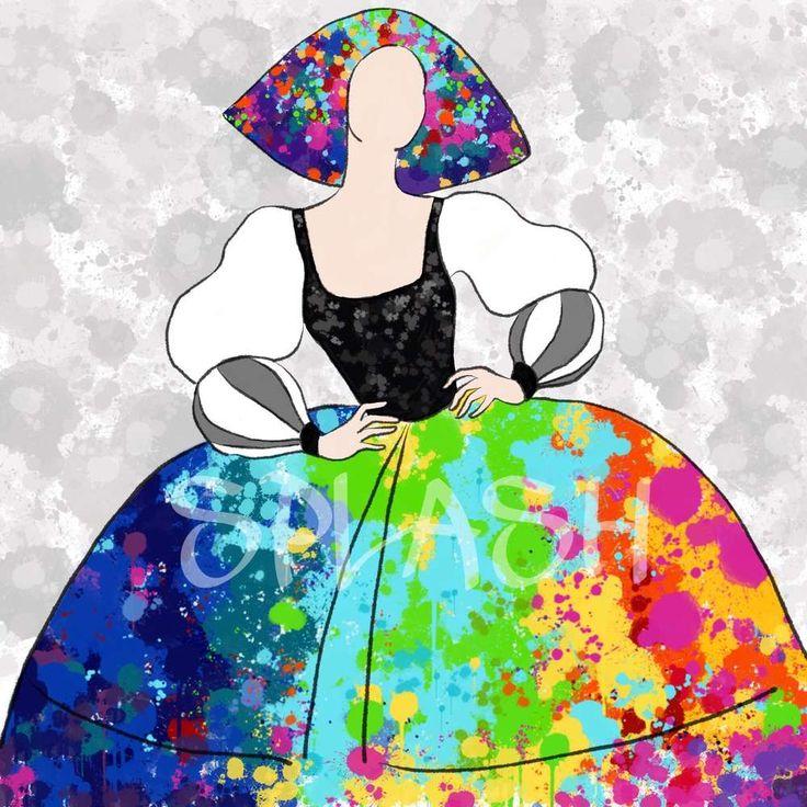Cuadro moderno Menina abstracto colores SPLASH SP341
