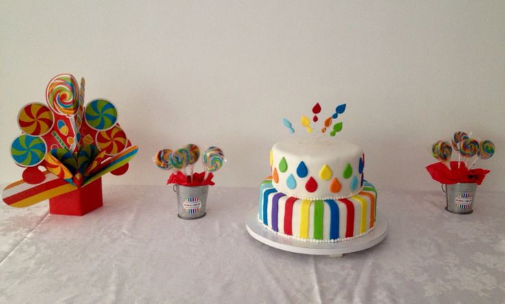 A cute, fun, and colorful birthday cake!