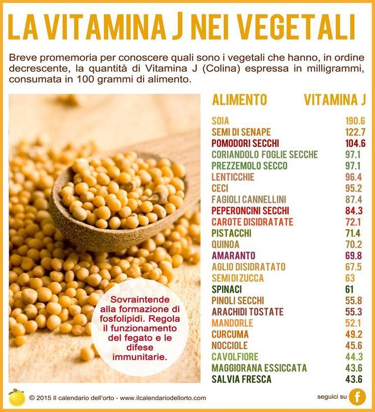 La vitamina J (colina) nei vegetali