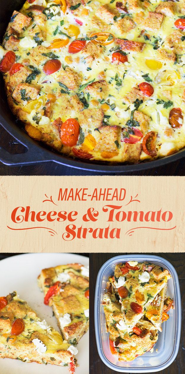 Make-Ahead Cheese and Tomato Strata