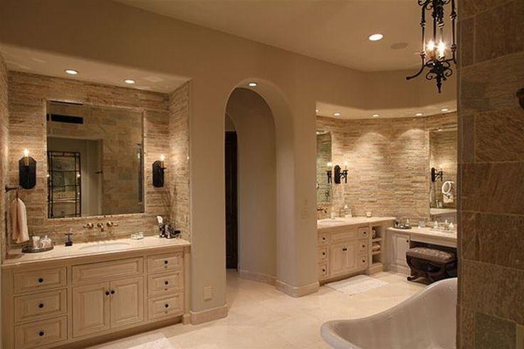 Rustic master bathroom master bathroom home sweet home for Master bathroom rustic