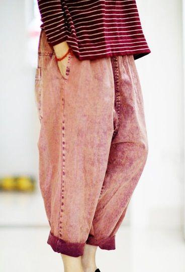 Tavaszán 2015 termék kiadása, az eredeti terv laza pamut alkalmi női nadrág nagy udvarok Haroun