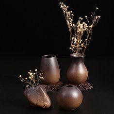 #Banggood Zakkz дрова сжигаются гончарные вазы керамические украшения ручной работы цветок подарок расположение гончарного декора (1028117) #SuperDeals