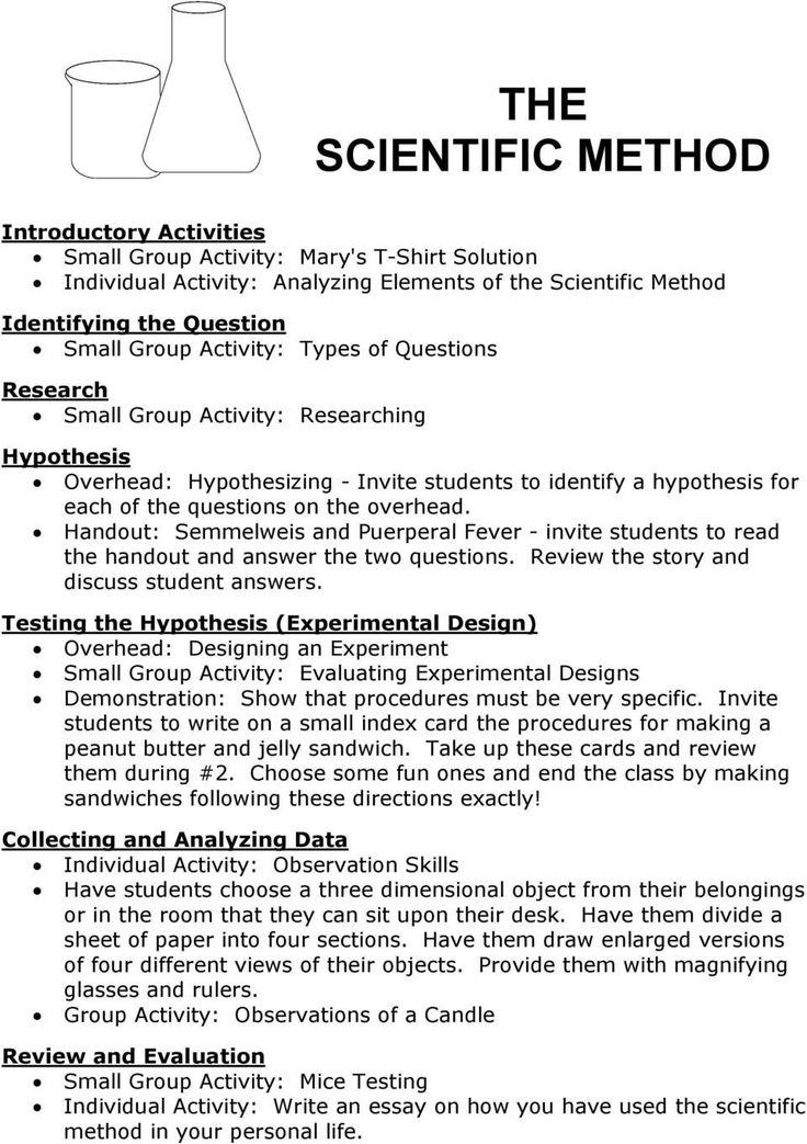 Scientific Method Story Worksheet the Scientific Method