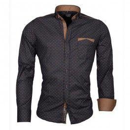 CARISMA košile pánská 8250 dlouhý rukáv slim fit tmavě modrá
