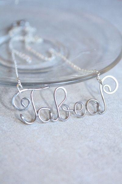 Namensketten - Personalisierte kette Draht Namen Halskette  - ein Designerstück von SusyDeMarchiJewelry bei DaWanda