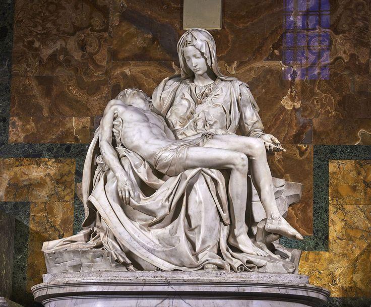 Michelangelo's Pietà, St Peter's Basilica (1498–99) - Michelangelo - Wikipedia, the free encyclopedia