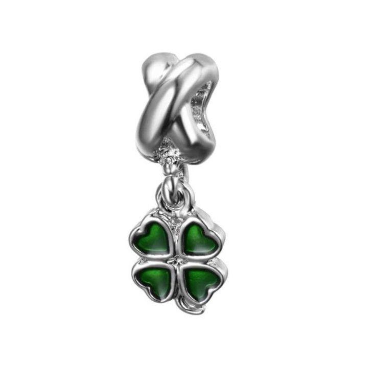 Pandora Four Leaf Clover Of Hearts 925 Sterling Silver Dangle