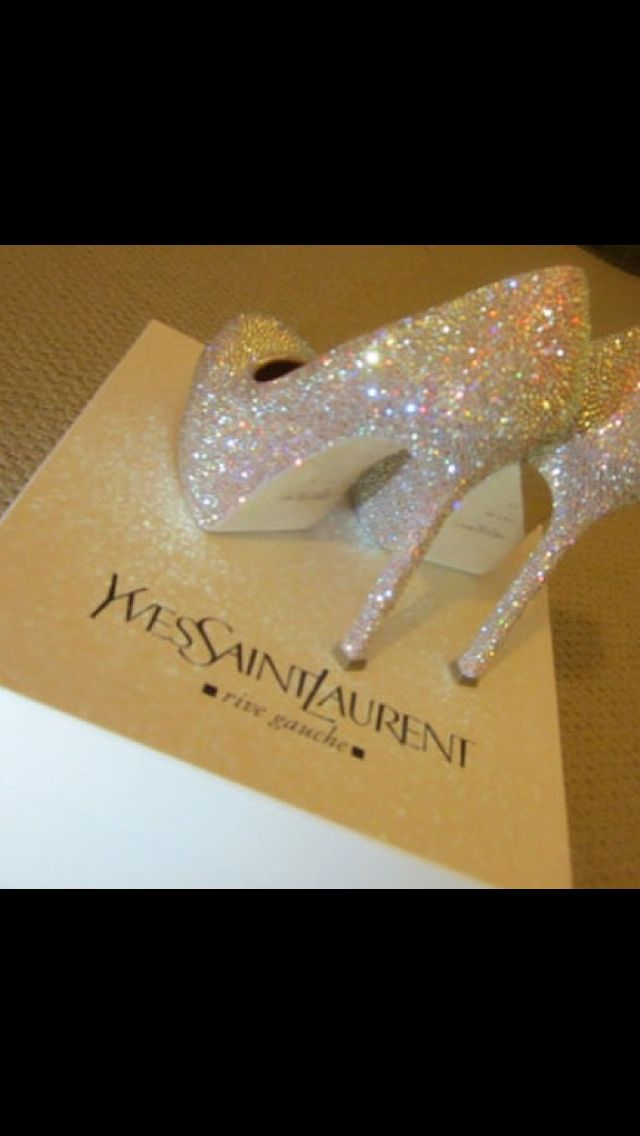 Perfect wedding heels... I plan on being sparkly for my big day, someday! ♥