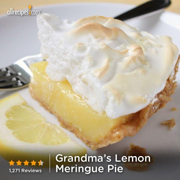 August 15- National Lemon Meringue Pie Day   Grandma's Lemon Meringue Pie