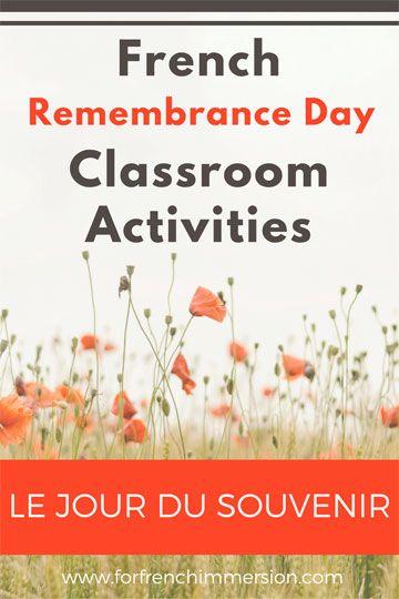 French Remembrance Day Classroom Activities: list of videos, free printables, and crafts – pour le jour du Souvenir!