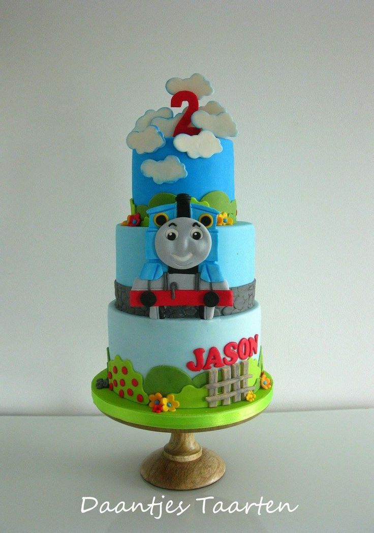 how to make a thomas the tank engine train cake