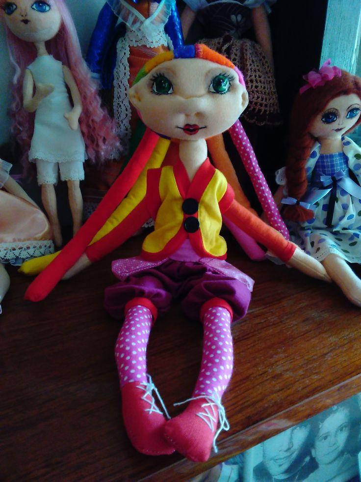 Textilní panenka Fíha tralala