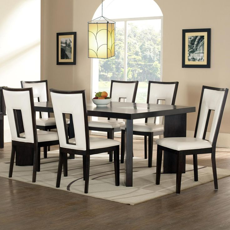 delano 7 piece contemporary dining table and chair set by vendor 3985 when i remodel dining. Black Bedroom Furniture Sets. Home Design Ideas