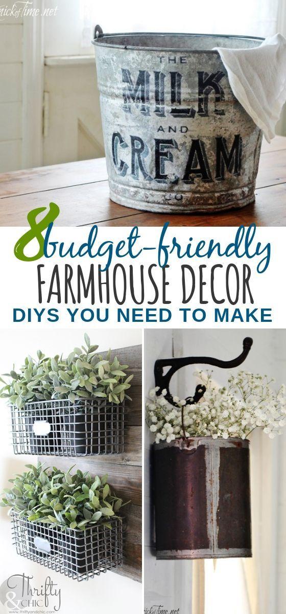 8 Farmhouse Decor DIY Ideas
