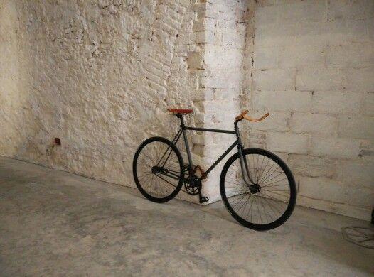 Custom bike, iron & wood  design giuliano marras